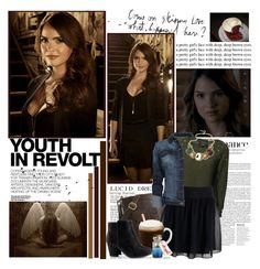 Hush,Hush Dream Cast: Shelley Hennig as Nora Grey. by beexcarstairs on Polyvore featuring Blonde + Blonde, MANGO, Zadig & Voltaire, H&M, Latico, Marlies Dekkers, Haider Ackermann and Hedi Slimane