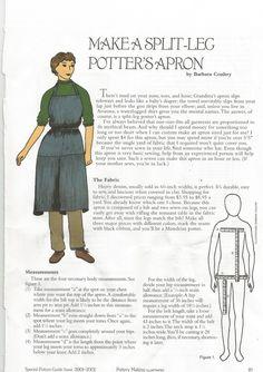 Make a split leg pottery apron-page 1