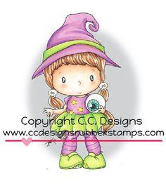 "CC Designs Swiss Pixie ""Bruxa pequena Lucy"" Carimbo"