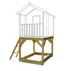 Elevated Stand for Childrens Playhouse