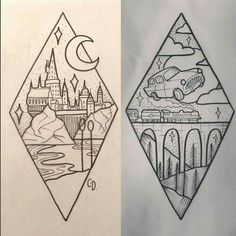 -Harry Potter tattoo ideas Ideas de tatuajes de Harry Potter See it Diy Tattoo, Book Tattoo, Arte Do Harry Potter, Harry Potter Sketch, Harry Potter Drawings Easy, Harry Potter Journal, Harry Potter Painting, Harry Potter Flying Car, Harry Potter Crafts Diy