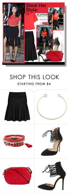 """Steal her style: Kylie Jenner"" by aminkicakloko ❤ liked on Polyvore featuring Rika and Valentino"