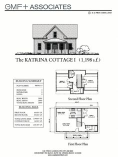 """This traditional """"Katrina Cottage"""" design has 3 bedrooms in sq ft. - Meets local codes for dwelling sqft. Cottage Floor Plans, Cottage Plan, Small House Plans, House Floor Plans, Tiny House Living, Cottage Living, Cozy Cottage, Cottage Homes, Small House Design"""