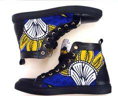 www.cewax.fr aime ces basket de style ethnique afro tendance tribale tissu wax africain Sneakers african prints ankara YouKhanga, leur nouvelle collection Automne Hiver 2014-2015