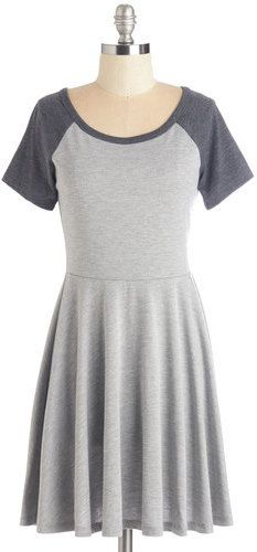 Others Follow Revel the Playing Field Dress in Grey