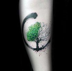 Green And Black Paint Brush Stroke Guys Amazing Tree Of Life Forearm Tattoos tat .Green And Black Paint Brush Stroke Guys Amazing Tree Of Life Forearm Tattoos tattoos for women - Tattoos - AMAZING Black Diy Tattoo, Tattoo Life, Tree Of Life Tattoos, Tattoo Shop, Tattoo Art, Nature Tattoos, Body Art Tattoos, New Tattoos, Tatoos