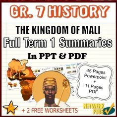 Grade 7 History - Term 1 - The History of Mali - Powerpoint slides and PDF Summary in English - Teacha! Pilgrimage To Mecca, Class Presentation, Social Science, Summary, Teaching Resources, In The Heights, South Africa, Worksheets, Photo Editing