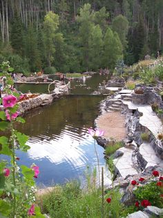 Strawberry Park Hot Springs  Nestled in the mountains, Steamboat Springs, CO.  A must visit if you are ever in the area.  Open all year.... absolutely amazing. <3