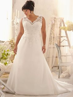 Mori Lee Julietta Plus Size Bridal Dress 3153: DimitraDesigns.com