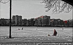 Frozen North Lake Copenhagen, Denmark
