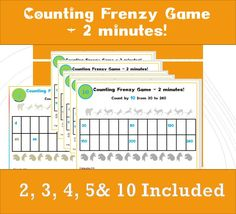 Skip counting Games for First Grade/ Year Counting Games / Printable in Activities Counting in Game/ Count 10 Skip Counting Games, Counting By 10, Times Tables Worksheets, Year 2, First Grade, Your Cards, Stuff To Do, Printables, Classroom