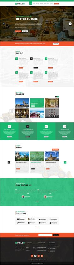Buildit is unique and modern design #PSD template for #construction #company website download now➩ https://themeforest.net/item/buildit-construction-psd-template/19176827?ref=Datasata