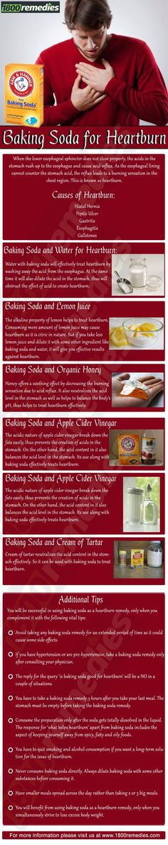 There are several ways to use baking soda as heartburn remedies and the following are some of those