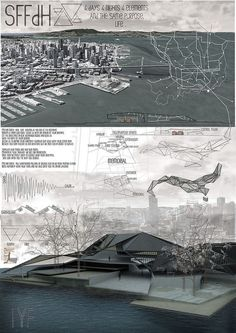 Good concept Board. Very visual and much rendering. #architecture #presentation…