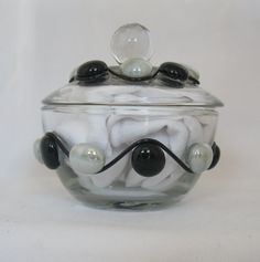 Glass Sugar Bowl by AcrossAmericaGlass on Etsy, $16.99