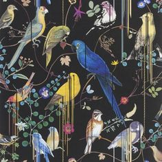 Christian Lacroix Birds Sinfonia Crepuscule Wallpaper - Sample
