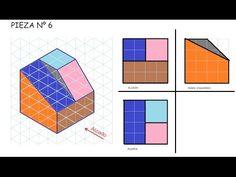 Alzado planta y perfil de una pieza. E6 vistas dibujo tecnico de un objeto - YouTube Orthographic Drawing, Autocad, My Drawings, Bar Chart, Diagram, Tapestry, Architecture, School, Youtube