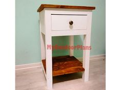 This step by step woodworking project is about farmhouse nightstand plans. This article features detailed instructions for building a simple wooden nightstand. Furniture Plans, Diy Shed, Diy Furniture Plans, Diy Furniture, Furniture, Diy Nightstand, Nightstand Plans, Woodworking Plans Free, Wooden Playhouse