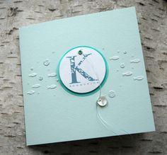 """Glückwunschkarten - Kommunionskarte """"Fische"""" - ein Designerstück von Bluetenstempel bei DaWanda"""