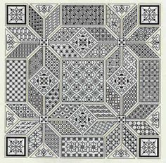 See the pretty Wandering Star (blackwork) at Nordic Needle