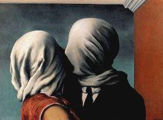 René Magritte. Les amants,1928.