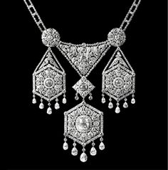 Diamond bows and tassels necklace once owned by Marie Antoinette