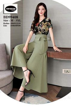 Dressy Casual Outfits, Stylish Work Outfits, Stylish Dresses For Girls, Korean Fashion Dress, Indian Fashion Dresses, Fashion Pants, Fashion Models, Fashion Outfits, Long Gown Dress