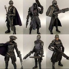Knights of Ren! Custom figures by Check out his page for more sick customs. by toyfiend Lego Knights, Knights Of Ren, Star Wars Concept Art, Star Wars Art, Star Wars 1313, Star Wars Disney, Star Wars Design, Fan Picture, Star Destroyer
