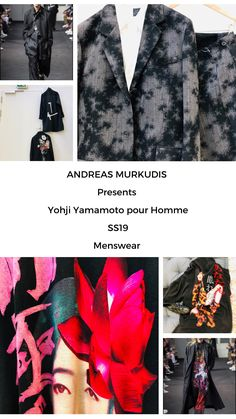 The atmosphere in ANDREAS MURKUDIS captures a freedom and tranquility that sets it apart from the usual, fast-paced retail world. Yohji Yamamoto, Menswear, Digital, Fashion, Moda, Fashion Styles, Men Wear, Men Clothes, Fashion Illustrations