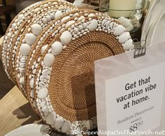 Ralph Lauren, Seashore Dinnerware & A Shirt I Liked So Much, I Bought It Twice – Between Naps on the Porch Baskets On Wall, Wicker Baskets, Mirror Mosaic, Mosaic Art, Hessian Table Runner, Diy Crafts For Adults, Flower Girl Basket, Stained Glass Panels, Seashell Crafts