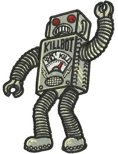 RoBoT MoNsTeR Iron On Patch SciFi ROBBY the Forbidden Planet tin toy B9 Lost in Space R2D2 C3PO Punk Retro Rocker Tattoo Art Rob Zombie Camp...