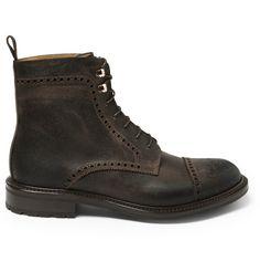 O'Keeffe Waxy Commander Balantyne Leather Brogue Boots | MR PORTER