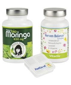 Lebensfreude Paket - Bio Moringa plus Nerven Balance Complex mit Johanniskraut