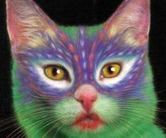 "I cannot imagine a cat sitting still enough to be painted, but it is a ""thing"""
