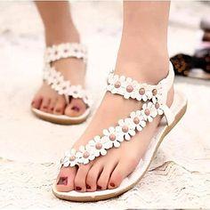 zapatos de las mujeres del dedo del pie abierto de las sandalias de tacón plano zapatos más colores disponibles - EUR € 9.99
