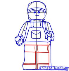 how to draw a minifigure. cool site to teach kids how to draw tons of characters. step by strep
