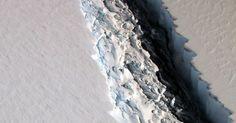NASA photo reveals a startling 300-foot-wide rift in Antarctic Ice Shelf #Science #iNewsPhoto