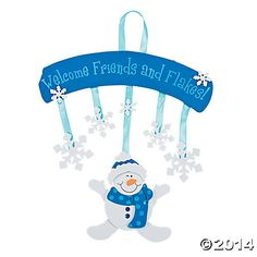 Snowman Welcome Sign Craft Kit - Oriental Trading