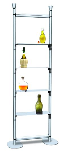 Slim Product Display with Shelving