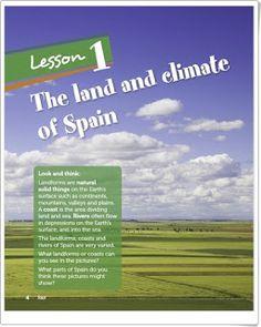"Unidad 1 de Social Science de de Primaria: ""The landscapes of Spain and Europe"" Social Science, Geography, Depression, Spain, Coast, Europe, Landscapes, Editorial, Socialism"