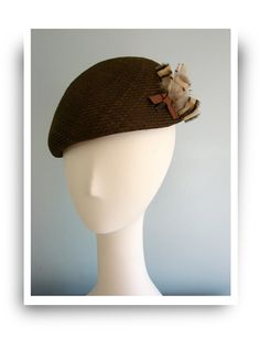 6e47c4b72fc Deep beret in chocolate brown by Oritihats on Etsy