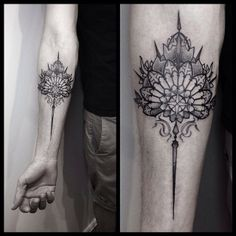 stunning love the concept of ending a tattoo in an elongated point