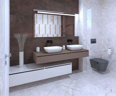 3D látványterv ABK Sensi és Interno burkolattal #3dlátványterv #3dlátványtervezés #baustyl #lakberendezes #lakberendezesiotletek #stylehome #otthon #homedecor #inspiration #design #homeinspiration #interiordesign #interior #elevation #3dplan #bathroom #ABK #ABKSensi #ABKInterno #walltiles #floortiles 3d Visualization, Bathroom Ideas, Vanity, Home Decor, Dressing Tables, Powder Room, Decoration Home, Room Decor, Vanity Set