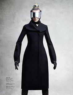 So many cool silhouettes in this editorial. Sigrid Agren Wears Futuristic Outerwear for S Magazine