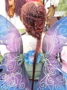 My latest faire hair.  The detail mark smith my heart sing   French braided bows, flower buns, fishtail
