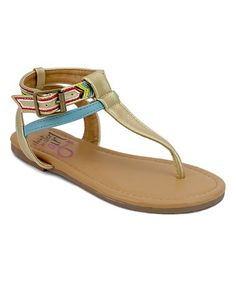 Loving this Gold Tazia Sandal on #zulily! #zulilyfinds
