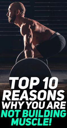 Check out the top 10 reasons why you're not building muscle! Here are the top 10 muscle building mistakes #fitness #gym #exercise #workout #muscle