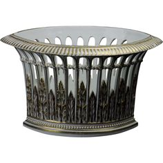 True Antique Meissen Reticulated Oblong Oblique Basket - WOW!