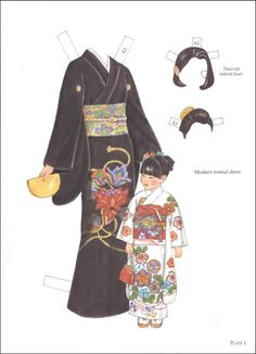 Traditional Japanese Fashions Paper Dolls by Ming-Ju Sun, Dover Publications/Rainbow Resource Center, Inc., Paper Dolls for ASIA unit