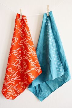 Wax-Resist Scarves DIY